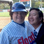 With Ken Jeong on the set of THREE STRIKES