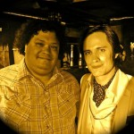 With Gael Garcia Bernal, on the set of CASA DE MI PADRE