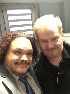 """On the set of """"The Jim Gaffigan Show"""", with the amazing, Jim Gaffigan"""