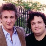 With Sean Penn, on the set of THE INTERPRETER